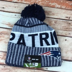 New Era Accessories - New England Patriots NE Blue Knit Stocking Cap Hat 1f8b8d3ad
